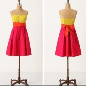 Anthropologie Parading Hues Colorblock Dress